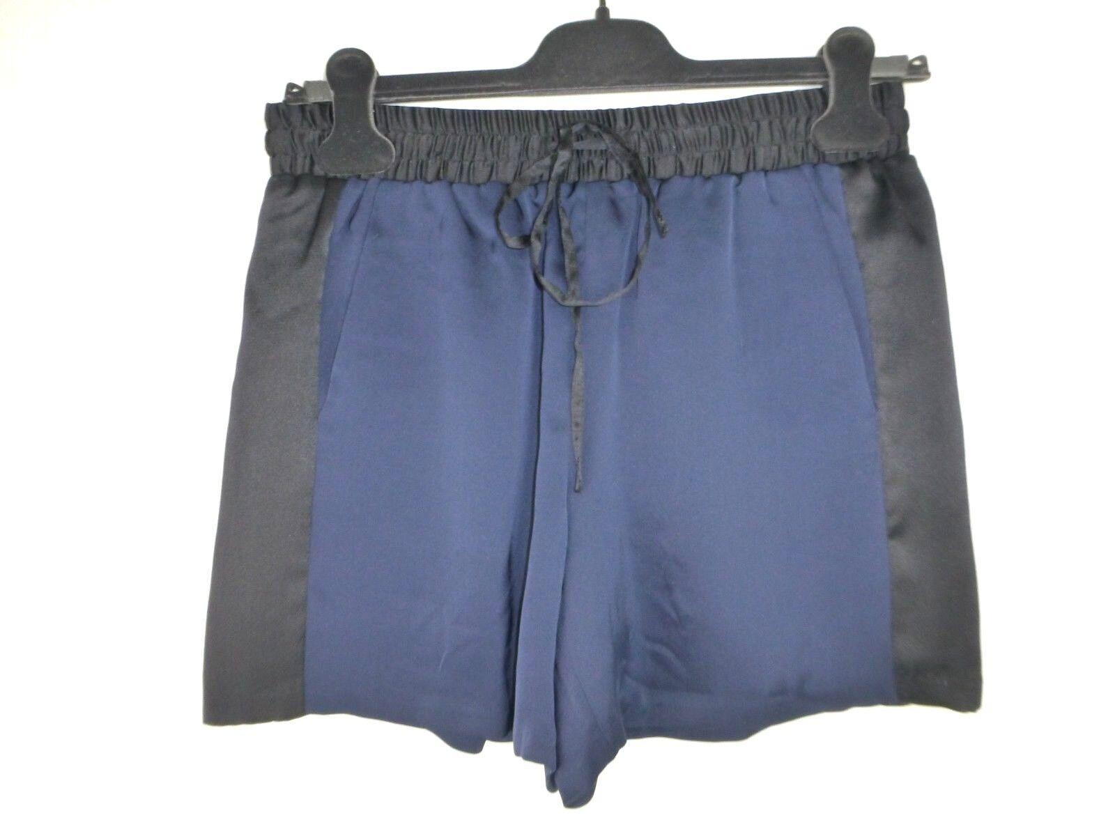 Iheart Damen Shorts Kurze Hose Hosenrock Gila 34 Schwarz Blau Seide Np 149 Neu
