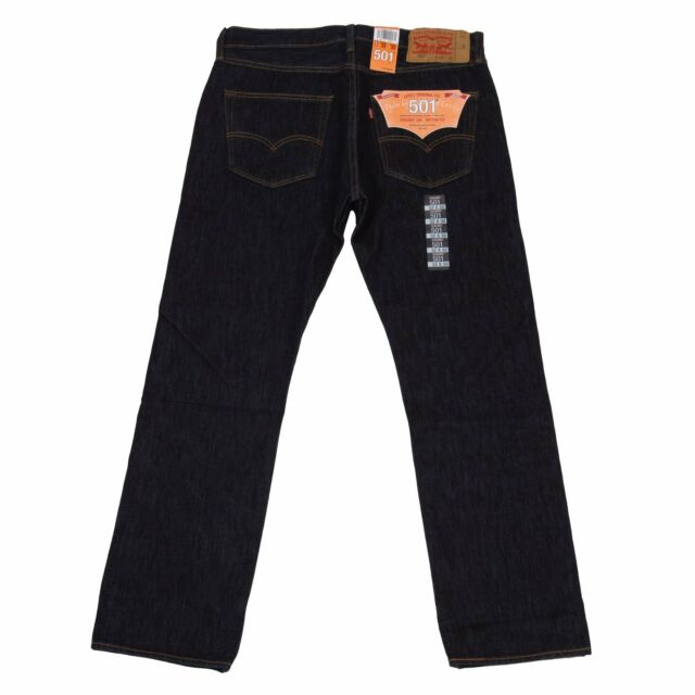 Levis 501 Button Fly Mens Jeans Authentic Many Sizes Indigo Blue Regular 31  32   eBay 9e74d82cea
