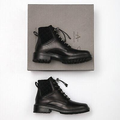 Aquatalia Linda Black Calf Leather