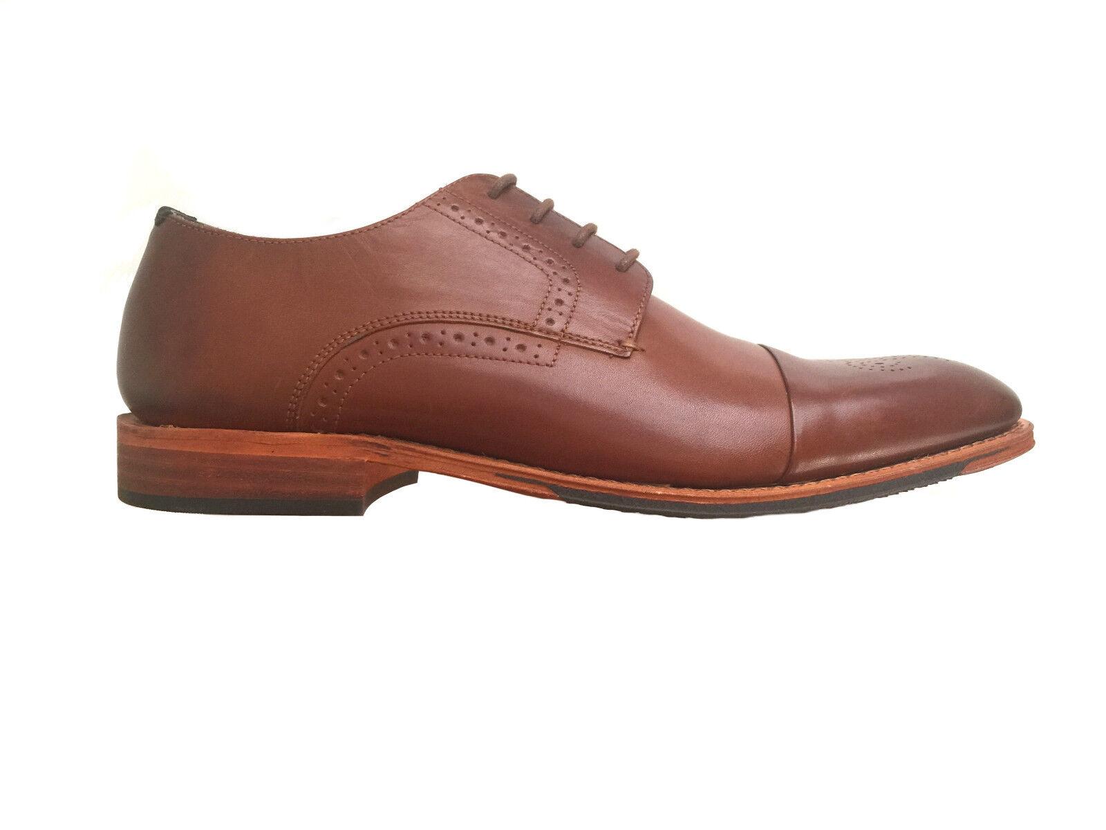 NEU Herren Schuhe v. Gordon & Bros Schnürer Gr.44 Farbe:cognac used echtes Leder