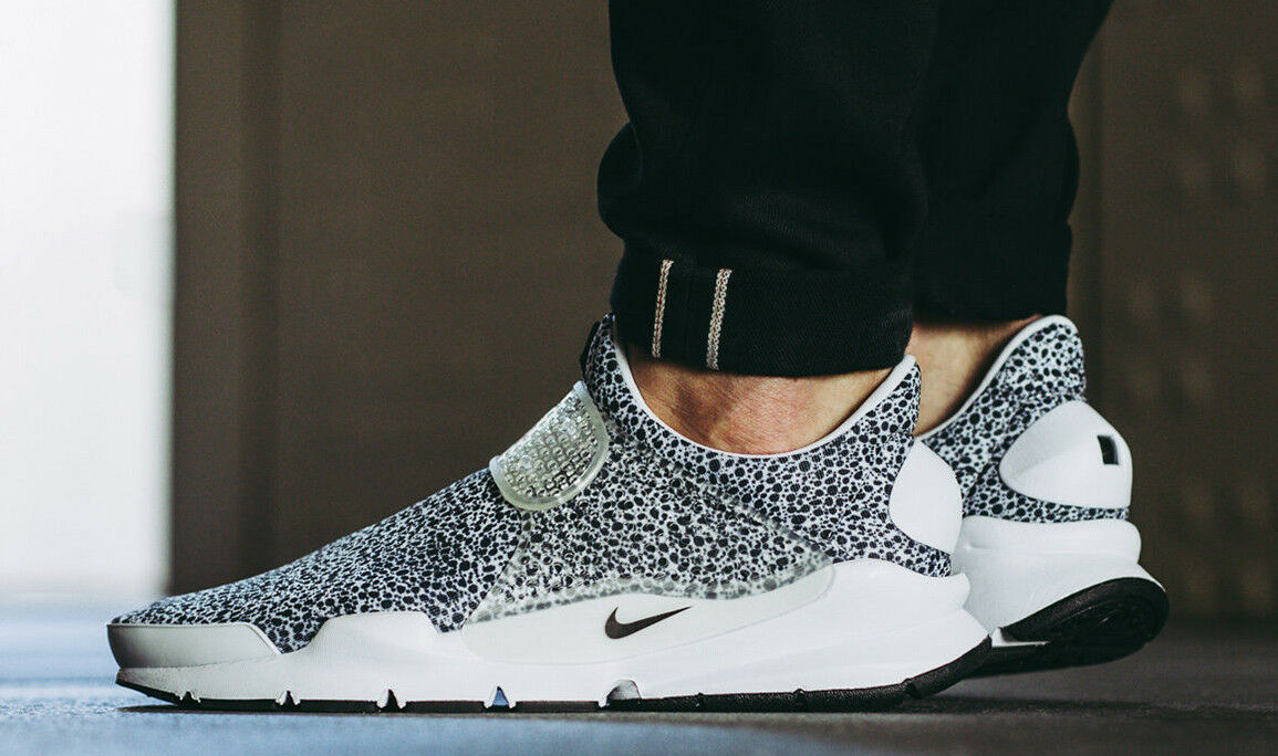 NIKE AIR 2019 Sock Dart QS Black Off White Safari Pack BR Camo Turbo UK 9 SALE