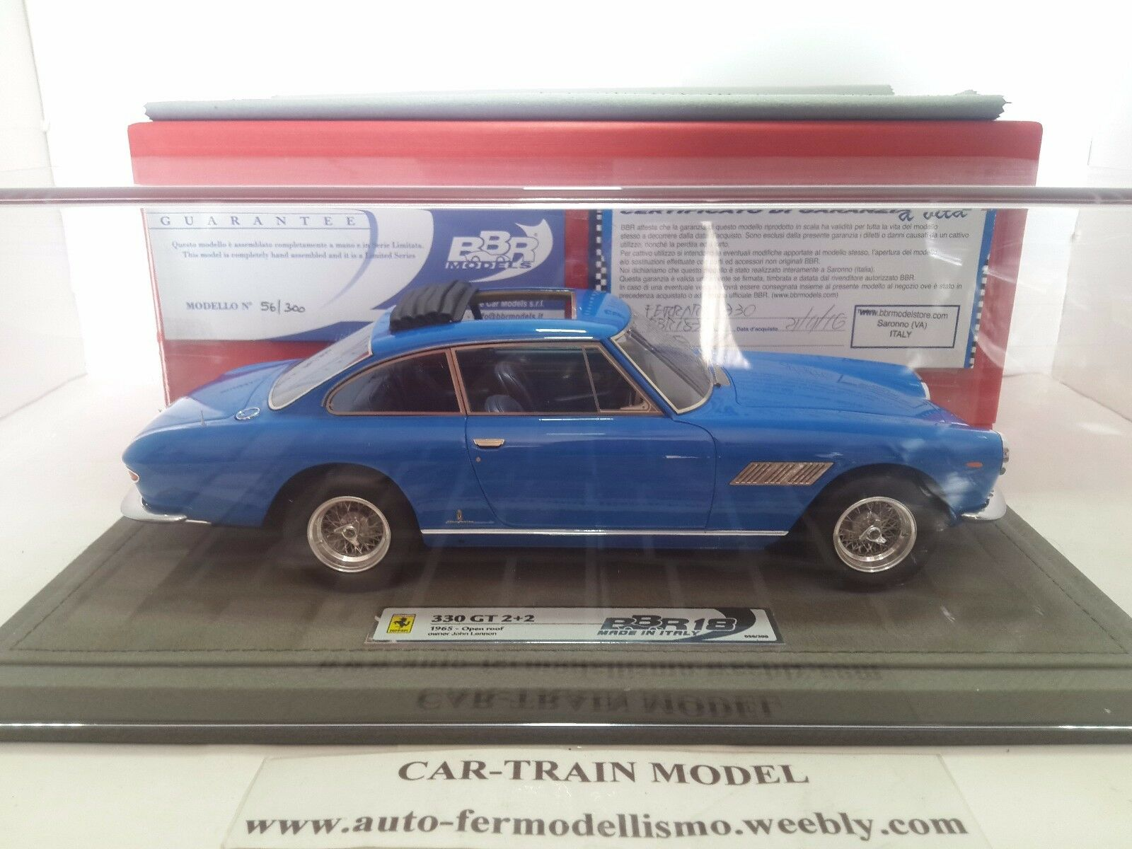 Ferrari 330 GT 2+2 Open roof 1965 John Lennon's car (Limited 300 pcs) - BBR 1 18