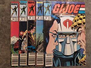 G-I-Joe-A-Real-American-Hero-5-book-lot-60-61-62-63-64-Marvel-Comics-1987