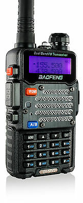 Baofeng 2-PACK UV5RV2BLACK 136-174/400-520 MHz Ham Radio Two-Way FM Radio