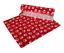VETFLEECE-Non-Slip-Deep-Pile-Fleece-Vet-Bed-Roll-Dog-Cat-Red-With-White-Paws thumbnail 1