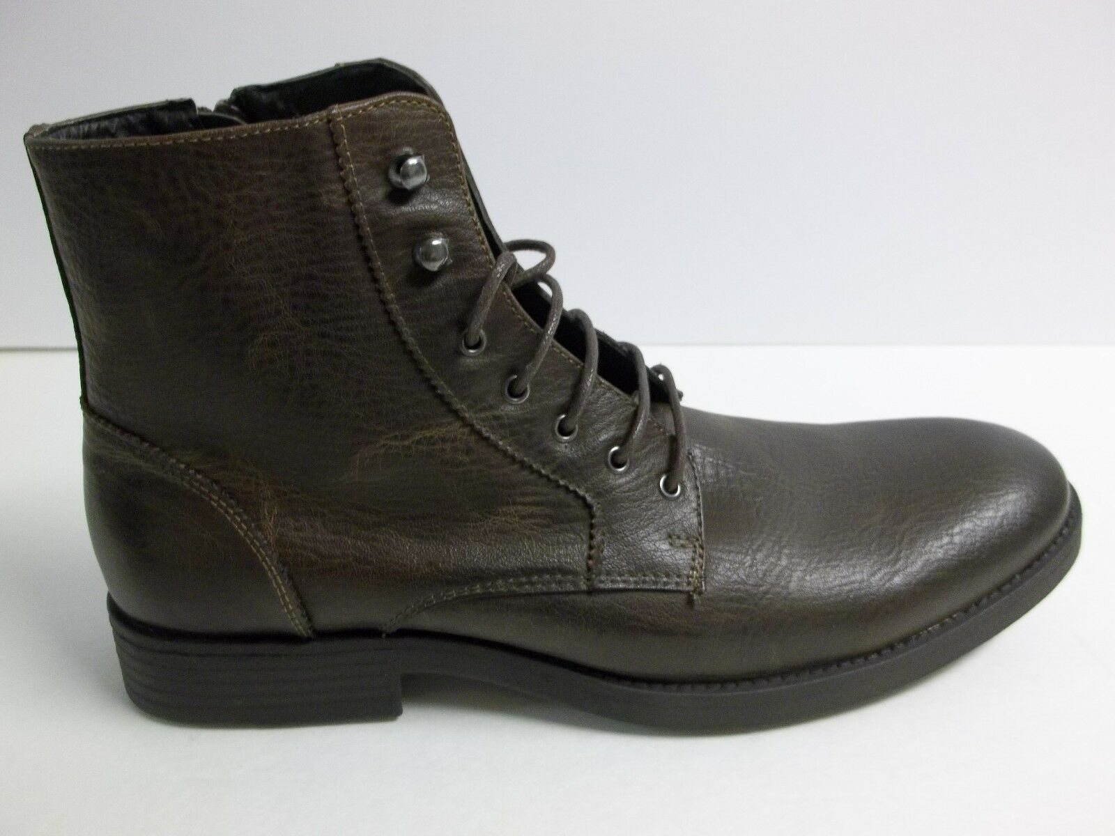 Robert Wayne Size 10.5 M Elbio Brown New Mens Ankle Boots Shoes Leather