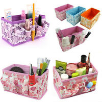 HOT Cabinet Folding Multifunction Makeup Cosmetic StorageBox Container Organizer