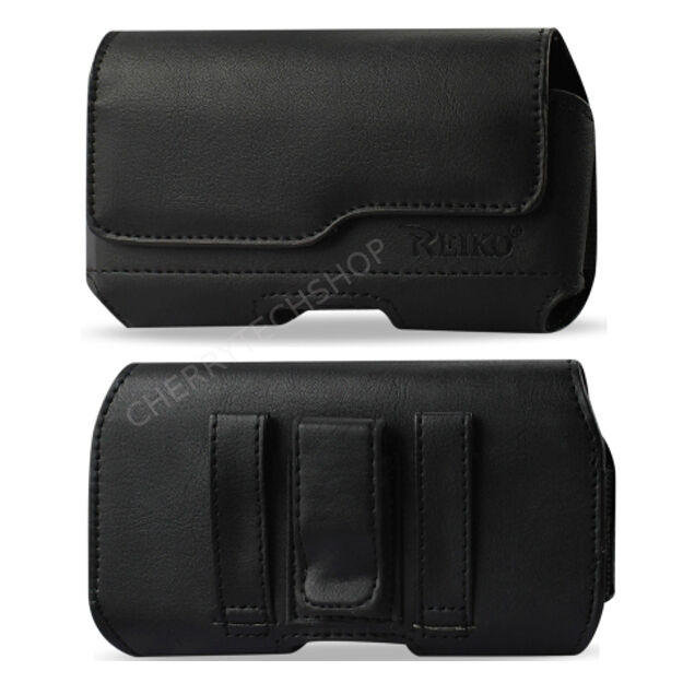Reiko Z Lid Leather Clip Loops Case for Phones with Otterbox Defender cove on it