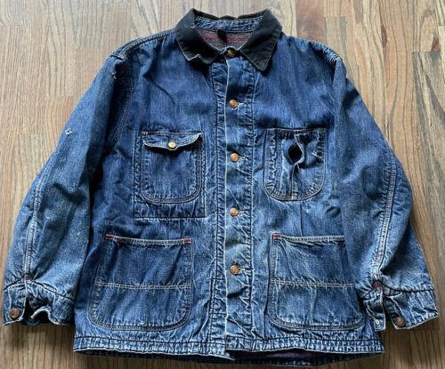 vintage denim chore jacket