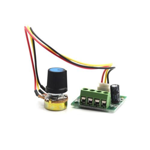 Mini PWM Motor Speed Controller Regulator Module DC 1.8V to 12V 2A ZJP W0DE
