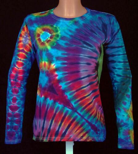 a Batik S lunga donna shirt manica Gr 5xl Psy New Tie tinta T Goa da mano Dye Hippie qz1Ac6wcxf