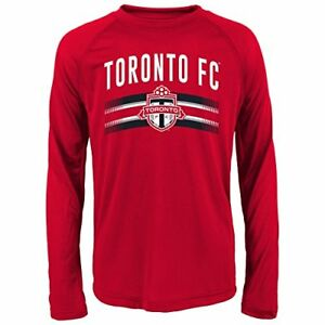 buy online 3b635 92e94 Details about MLS Toronto Fc Boys Performance Long Sleeve Tee, Large/Size  (14-16), Red