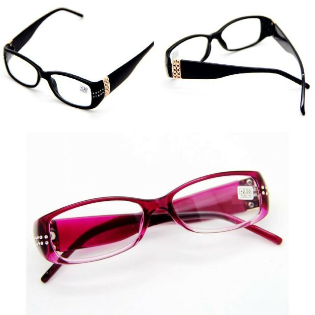 Women's Fashion RHINESTONE + Gold Gadget Reading Glasses Readers Eyewear 1.0-4.0