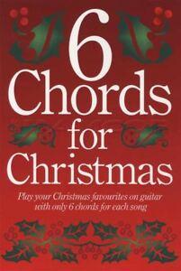 6 Accords Pour Noël Guitar Chord Répertoire Jingle Bells Arbre De Noel Silent Night-afficher Le Titre D'origine