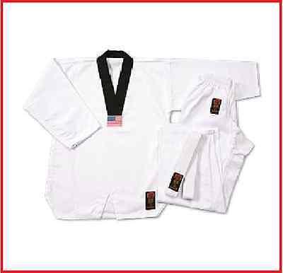 Taekwondo Uniform Medium Weight for Kids /& Adults// TKD Gi 7 oz White