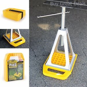 Camper Parts And Accessories Camco Rv Stabilizer Jack Pads Rv Leveling Pads 4 Pk Ebay