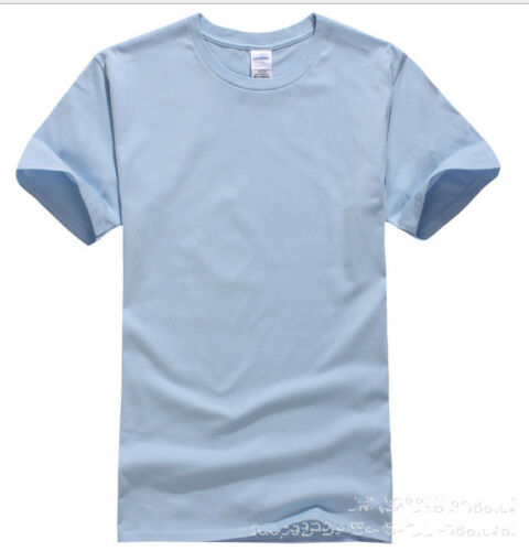 New Fashion Men/'s short sleeve  candy color cotton T-Shirt YF242