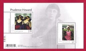 Canada-2396-Souvenir-Sheet-New-2010-Prudence-Heward-Post-Office-Fresh