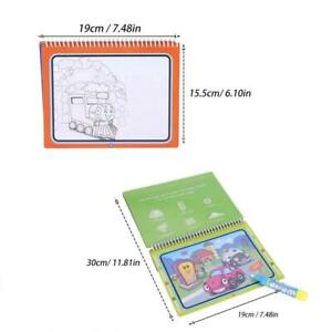 Portable Kid Magic Water Coloring Drawing Book Wasser ...