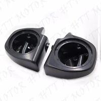 Unpainted Lower Vented Fairing 6.5 Speaker Pods For 1993-2013 Harley Touring
