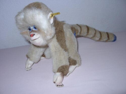 Steiff alter Affe Pavian Mungo ca 46 cm Knopf Fahne 0025/23 Affen