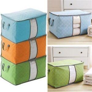 Large-Clothes-Quilt-Blanket-Storage-Bag-Box-Zip-Foldable-Non-woven-Organizer