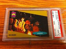 1991 Proset Superstars Jimi Hendrix Concert Card PSA 10 Experience Purple Haze