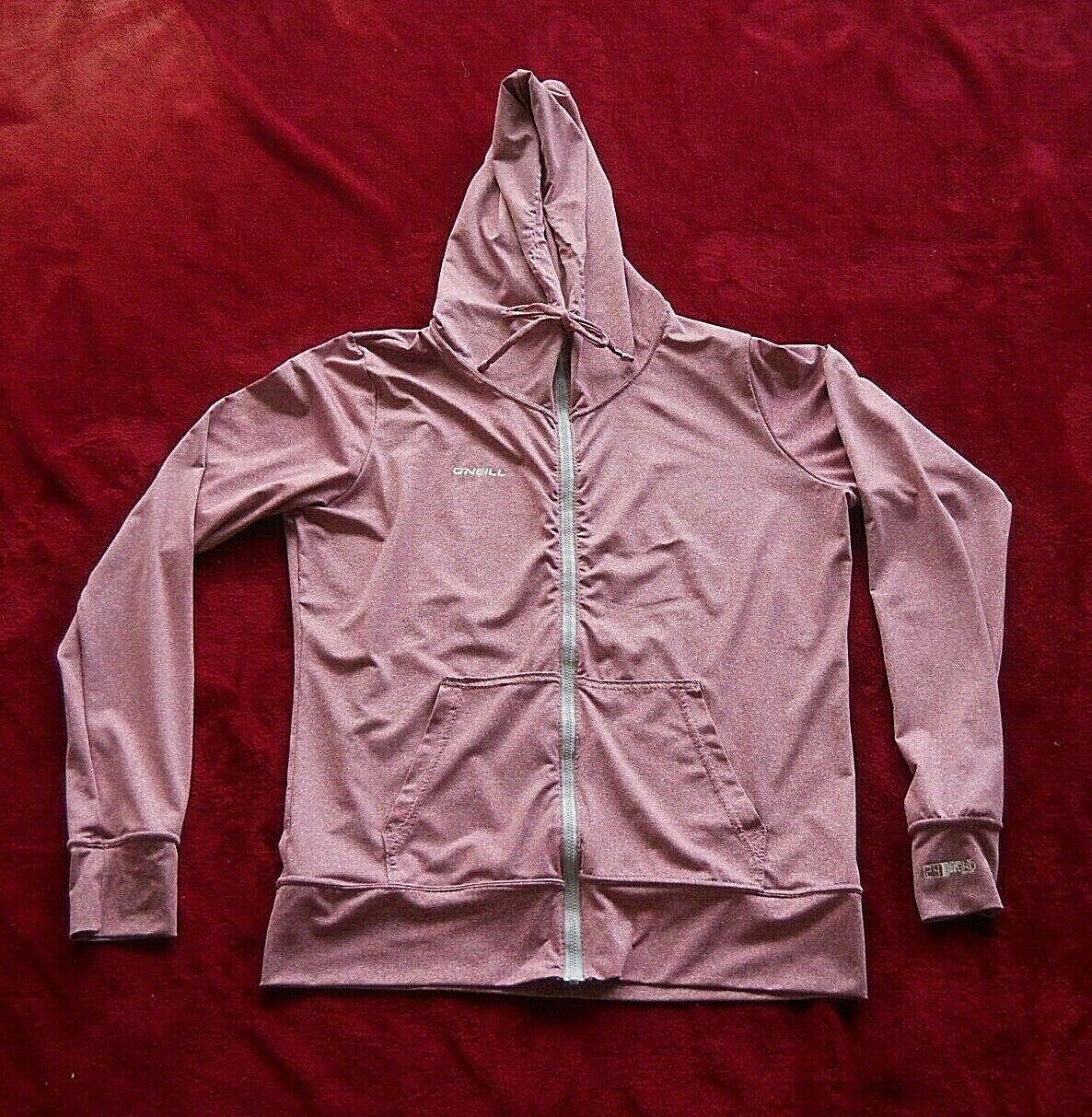 Womens L O'Neill Slim Fit Hybrid 50+ UV Zip Front Long Sleeve Hoodie Jacket