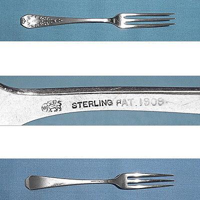 "WHITING MFG STERLING 7 1//2/"" FORK ~ MADAM JUMEL ~ MONO S S"