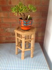 Vintage Bamboo Plant Stand Retro Kitsch 1960s