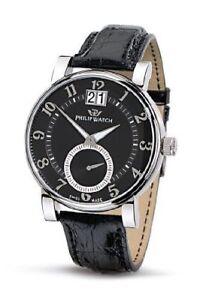 Orologio-PHILIP-WATCH-GRANDATA-acciaio-uomo-SWISS-MADE-black-dial-genere-formale