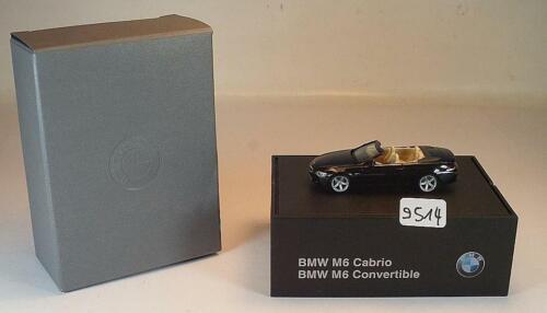 Herpa 1//87 bmw m6 convertible//convertible negro en camello klappbox #9514