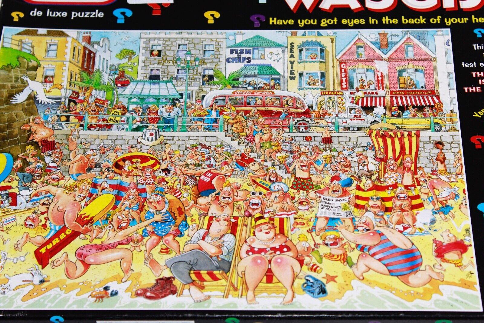 Jumbo-Wasgij Original No.8  marée haute  1000 Pièce Jigsaw de Luxe Puzzle utilisé  édition limitée