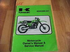 Kawasaki KDX250-A1 Owner's & Service Manual  99963-0032-01