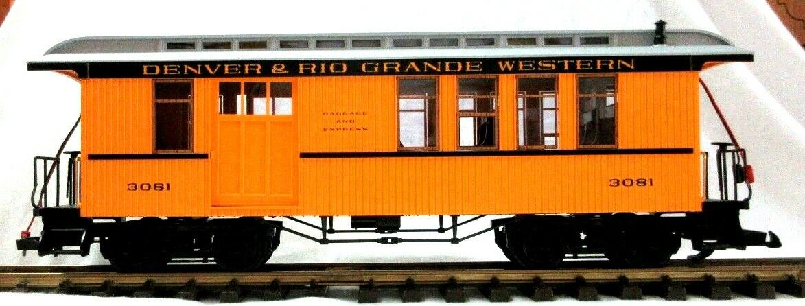 LGB 3081 DENVER & RIO GRe WESTERN COMBINE  W LIGHTING