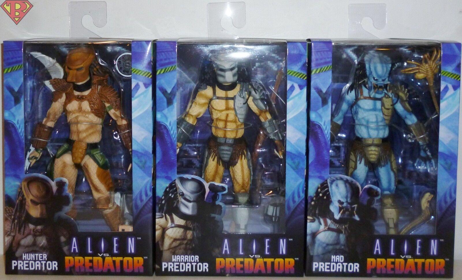HUNTER WARRIOR & MAD PREDATOR Alien vs. Predator Arcade 7  Figure Set Neca 2018