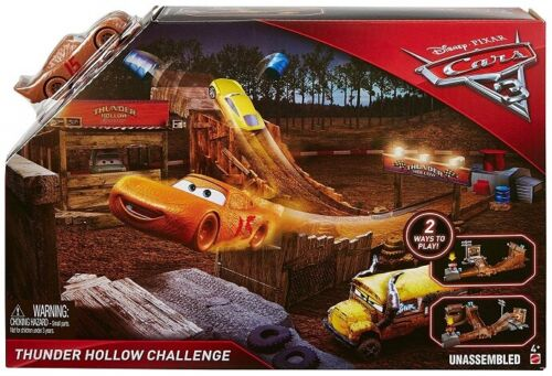 Disney DYB00 Cars Pista Sfida di Thunder Hollow