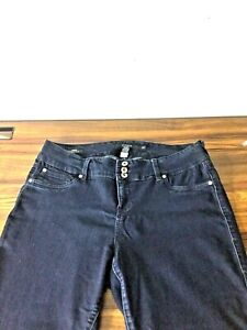 Torrid Triple Button Zipper Stretch Jeggings Jeans Jegging Size 18R Dark blue