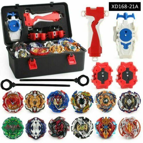 3 Werfer+Tragbare Aufbewahrungskoffer DHL Beyblade Burst Set 12 Kreisel