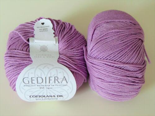 Garn // Wolle GEDIFRA 50g COTTOLANA DK