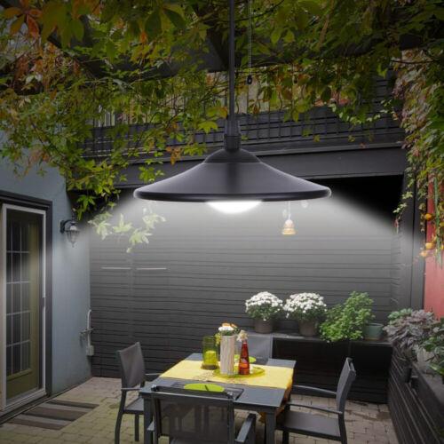 Solarbetriebene LED-Industrie Pendelleuchte mit Fernbedienung Hängelampe 3W