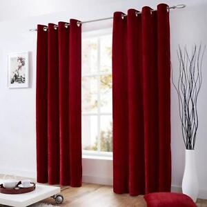 Image Is Loading Plain Velvet Eyelet Curtains RING TOP REDUCED To