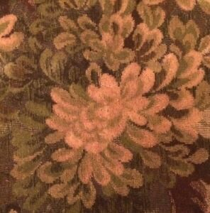 SCALAMANDRE Colony Marly Cut Uncut Velvet Tapestry Forest Green Remnant New