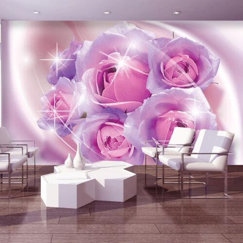 BILD FOTOTAPETEN FOTOTAPETE KUNST BLUMEN Rosen Rosa Blume Magia Blitz 3FX3661P4