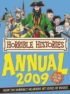 """""""AS NEW"""" Deary, Terry, Horrible Histories Annual, 2009 Book"""
