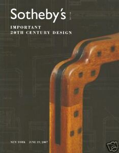 Antiques 20th Century Design 19/06/2007 A Great Variety Of Models Capable Sotheby's Catalogue Imp