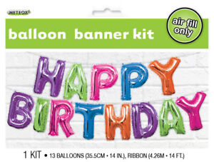 BIRTHDAY-PARTY-SUPPLIES-COLOUR-BANNER-KIT-HAPPY-BIRTHDAY-AIR-FILLED-BALLOONS