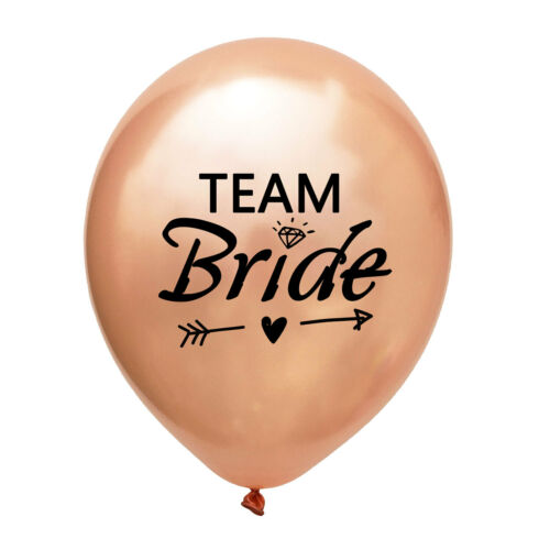 Pink Team Bride Balloons Black Bride to be Engaged Wedding Hen Party Decor Gifts