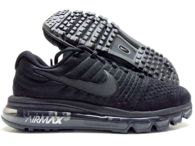 cheaper 4f84d 23991 Nike Air Max 2017 Men Running Run SNEAKERS Black 849559-004 7.5
