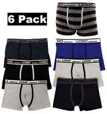 6 Mens Boxer Briefs Underwear Stretch Fashion Trunk Short Bulge Lot S M L XL 2X